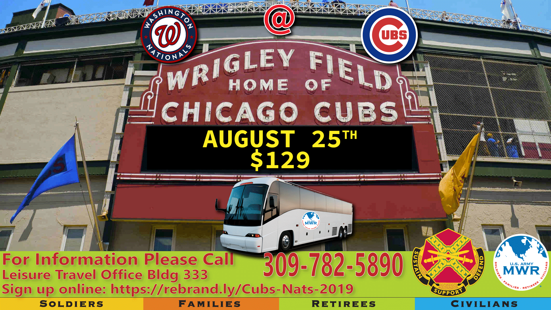 Nationals vs. Cubs Bus Trip