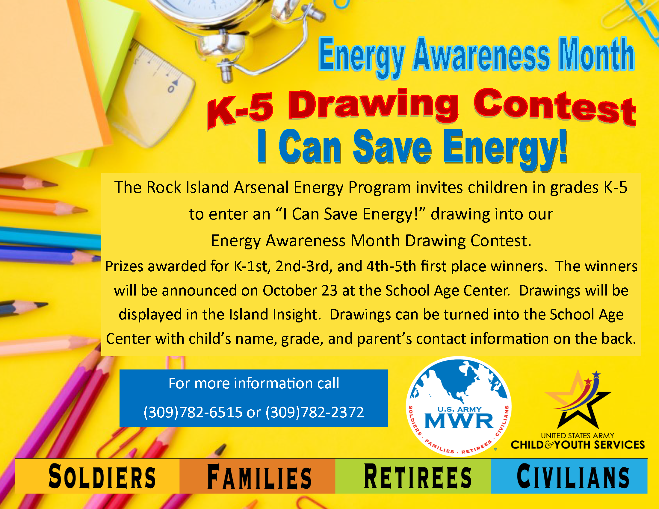 Energy Awareness Month K-5 Drawing Contest