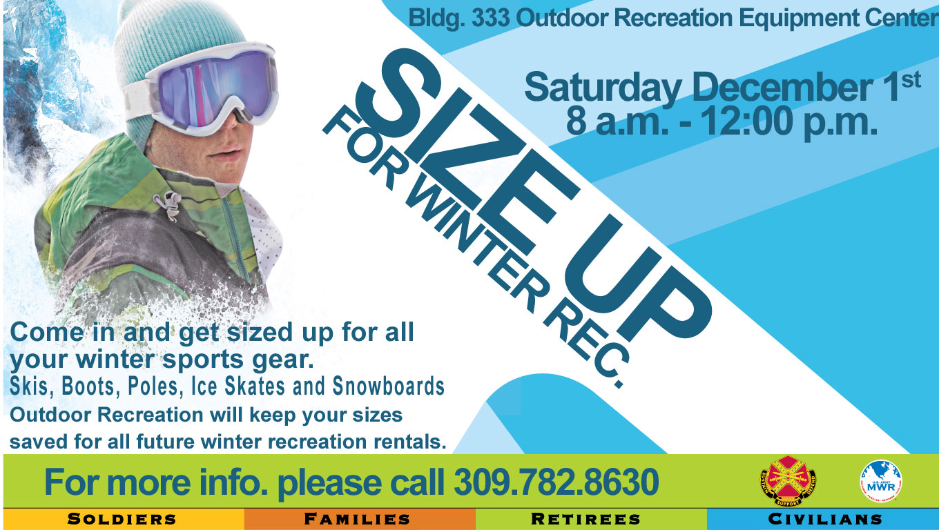 Size Up for Winter Rec. Event