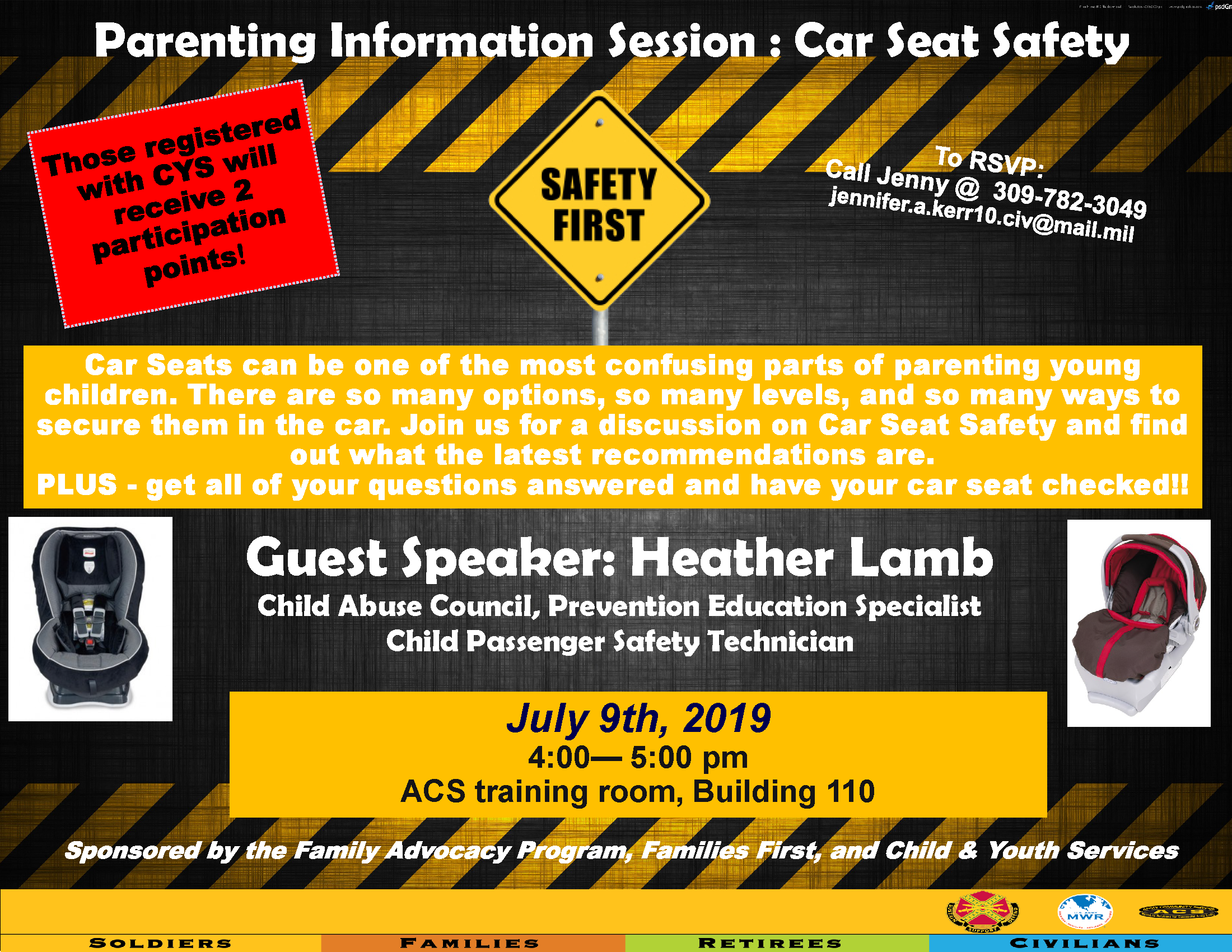 Parenting Information Session: Car Seat Safety