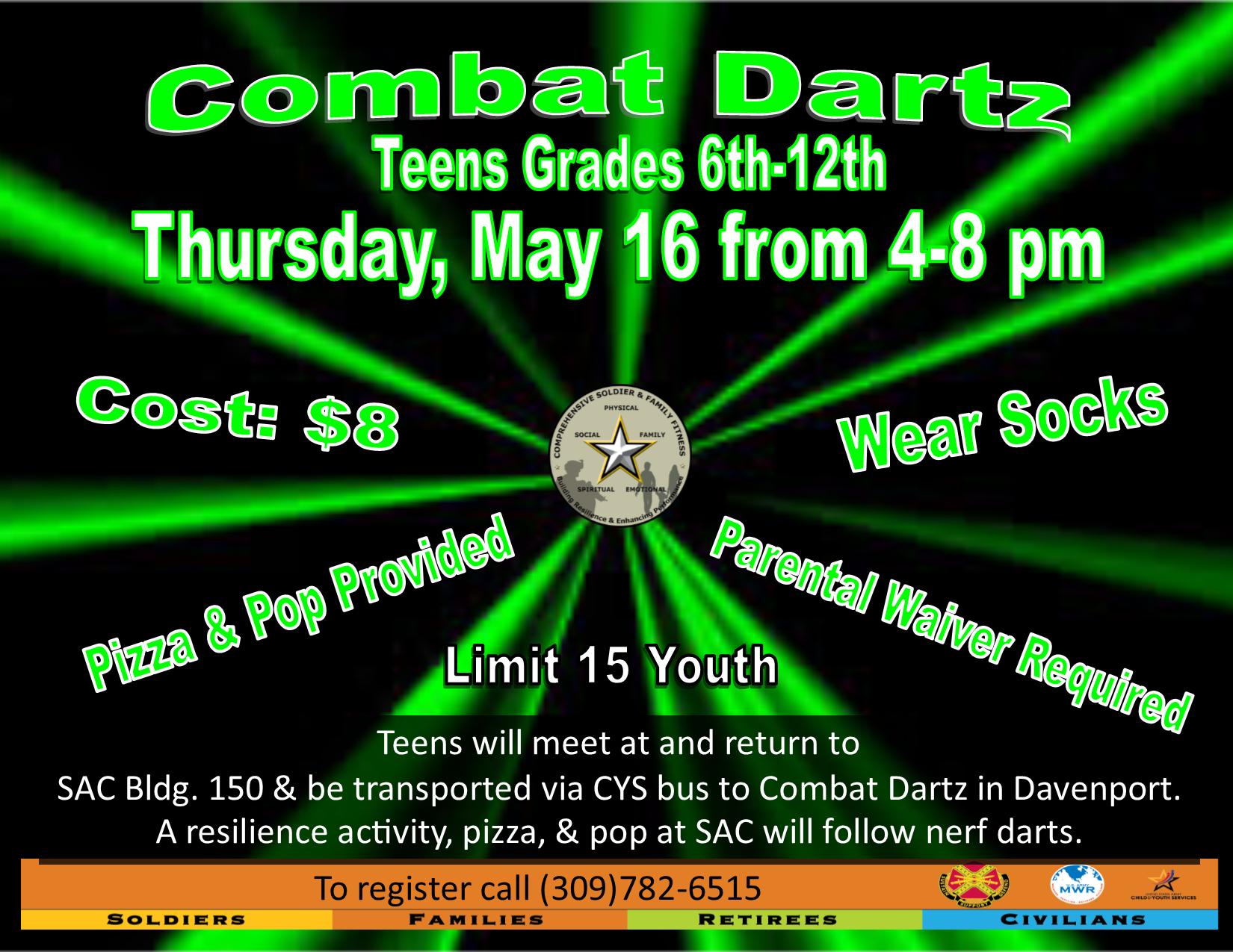 Teen Resiliency: Combat Darts