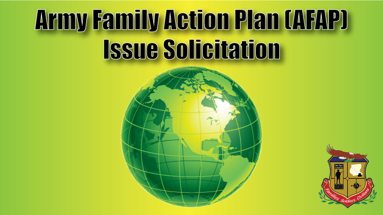 Army Family Action Plan (AFAP) Submission Period