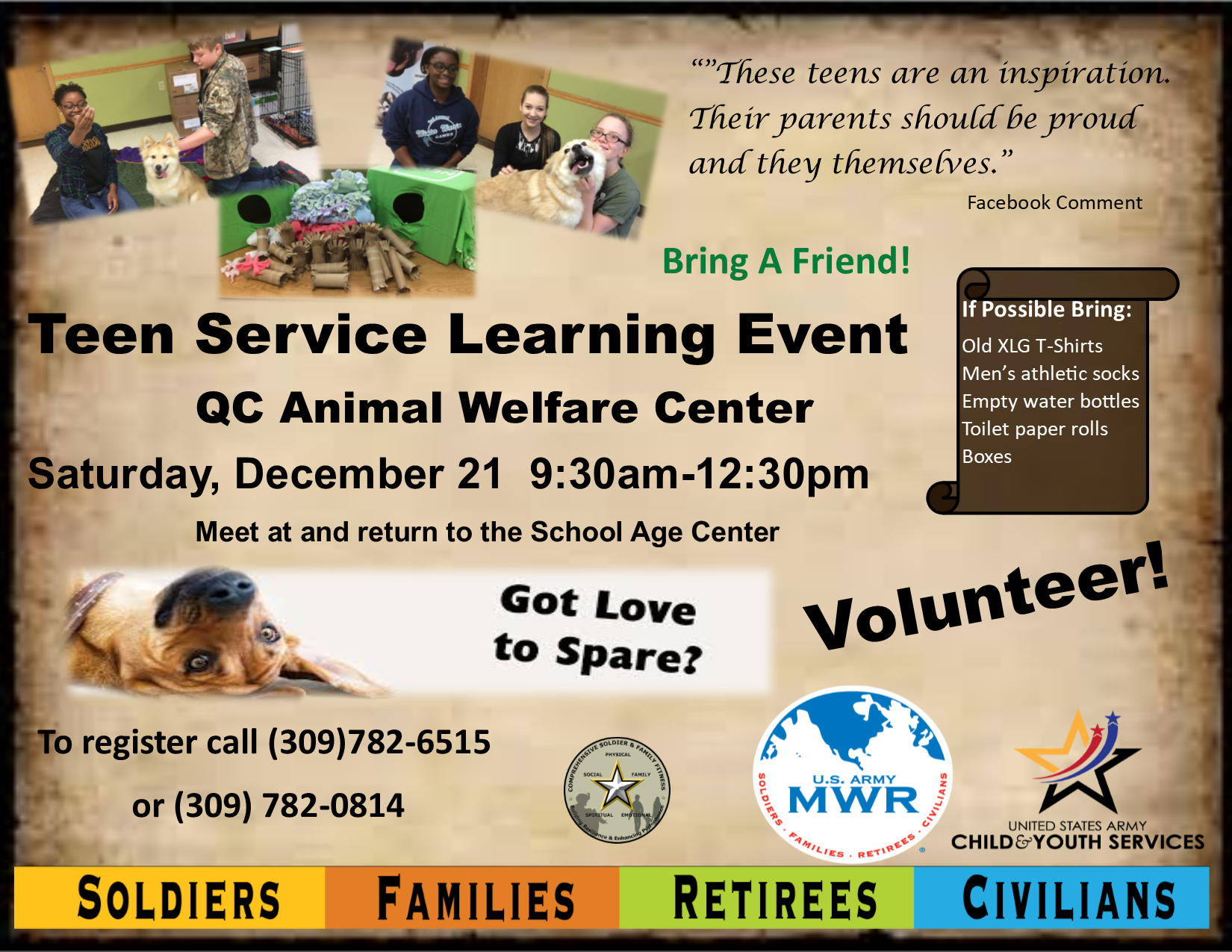 Teen Service Learning Event