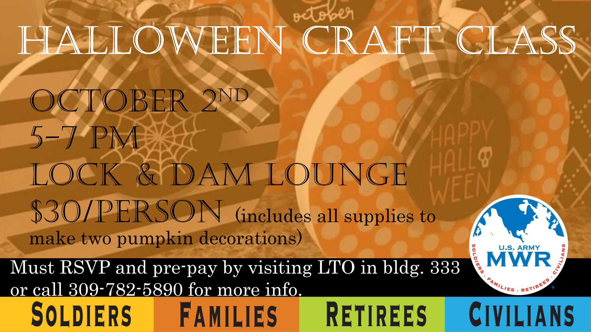 Halloween Craft Class