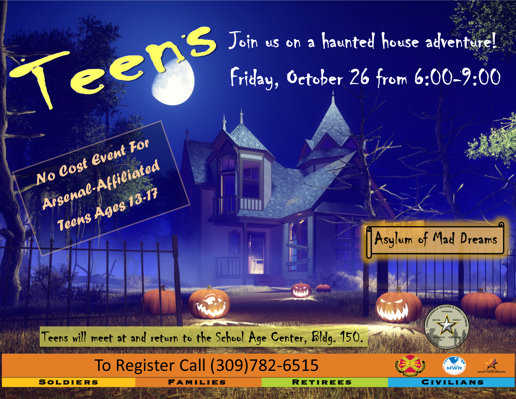 Teen Haunted House Trip
