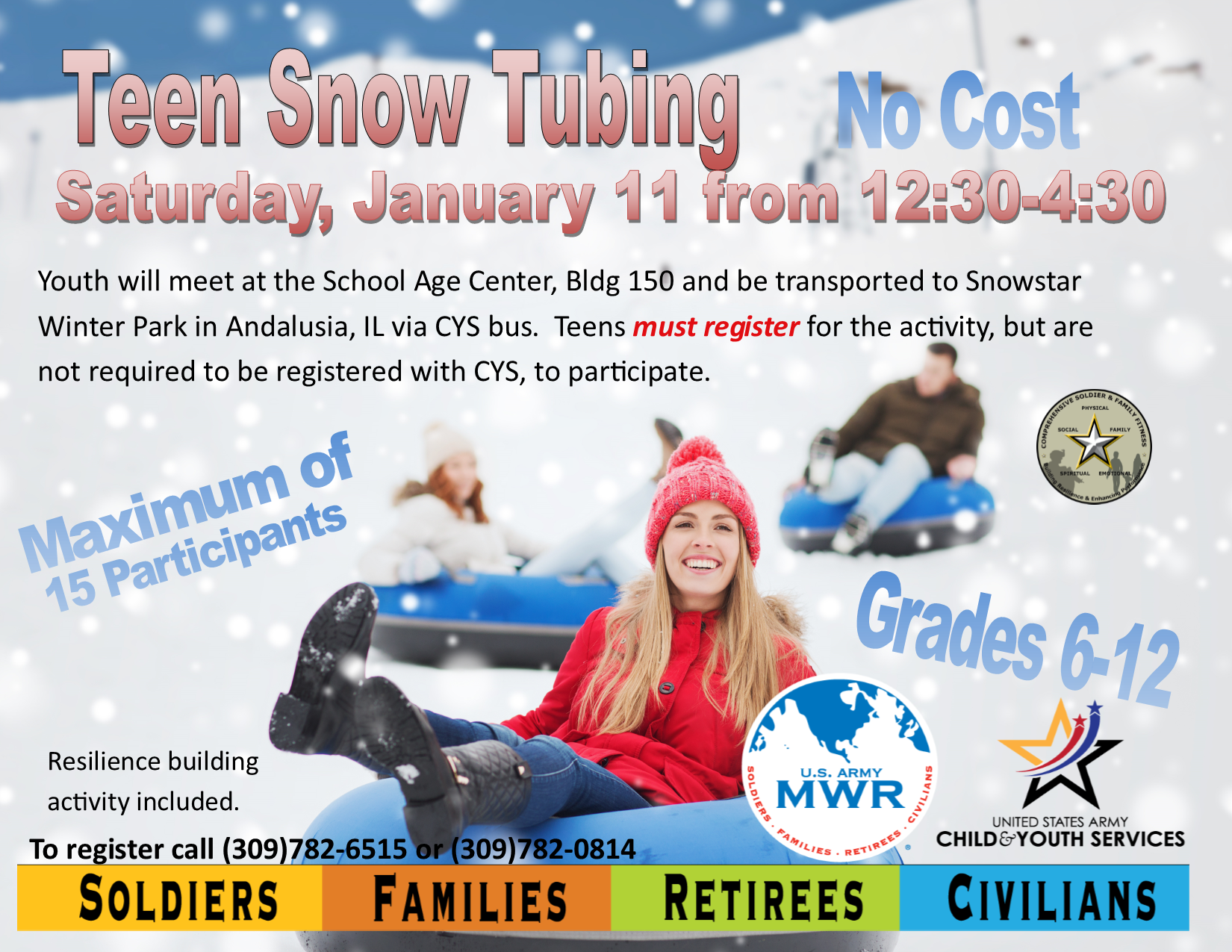 Teen Snow Tubing Outing