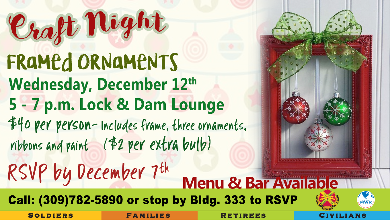 Craft Night: Framed Ornaments