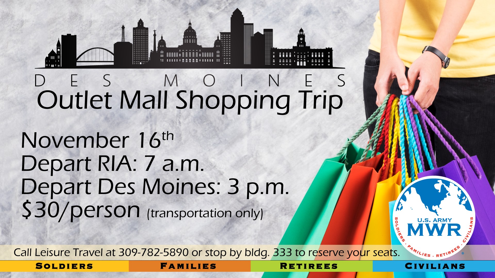Trip to Des Moines Outlet Malls