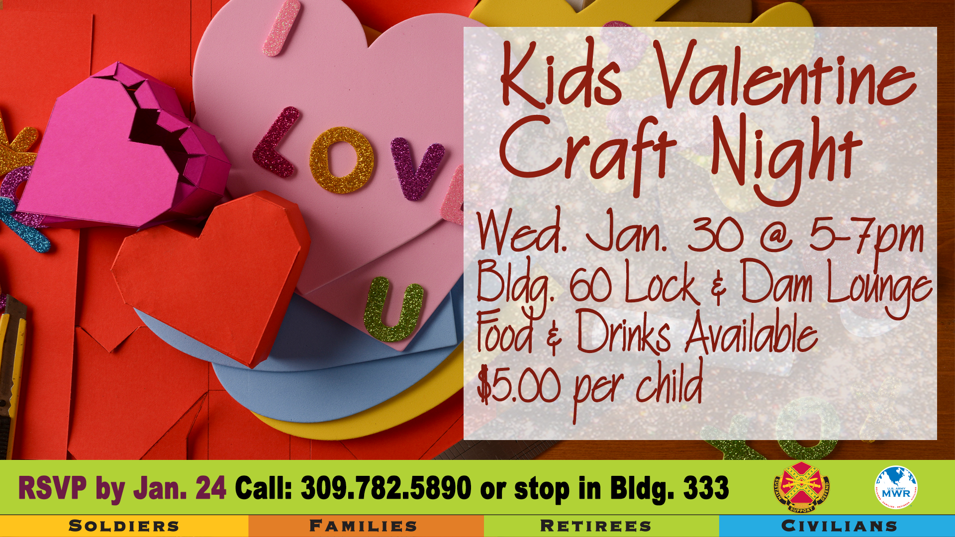 Us Army Mwr View Event Kids Valentine Craft Night