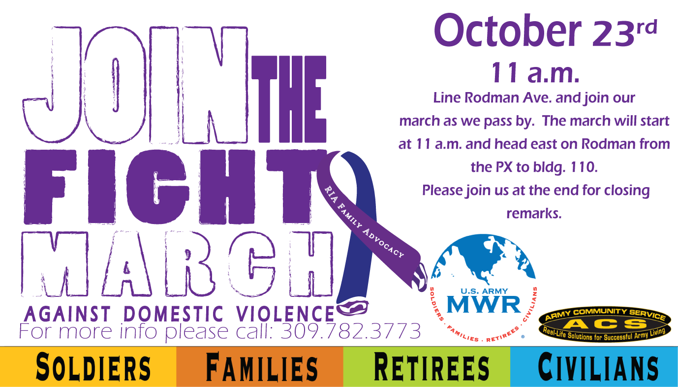 Join the Fight March Against Domestic Violence
