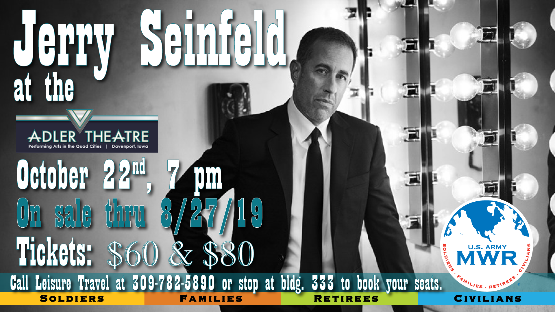 Jerry Seinfeld at the Adler Theatre