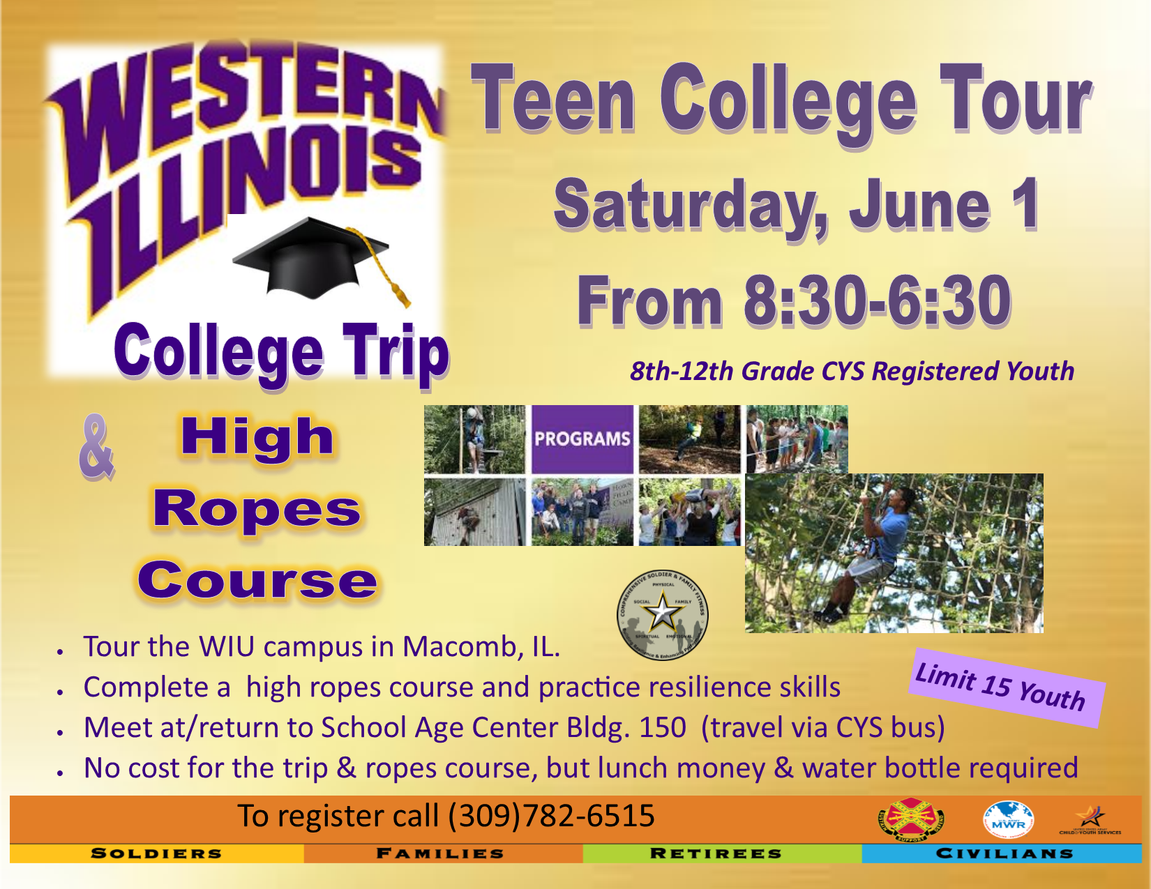 US Army MWR :: View Event :: Teen Resiliency: College Tour Macomb Wiu Campus Map on wiu quad cities campus, wiu moline campus, wiu campus map, wiu campus recreation,