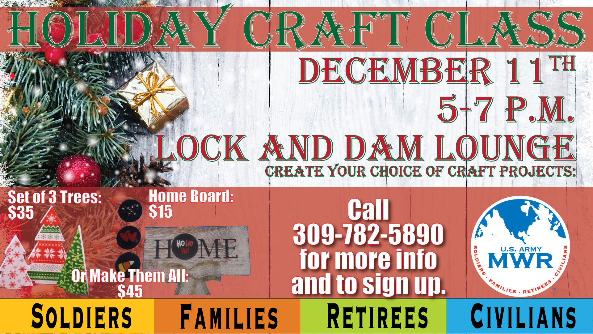 Holiday Craft Class