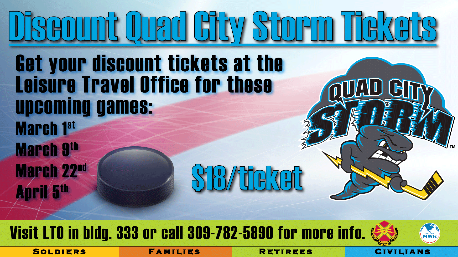 QC Storm Discount Tickets