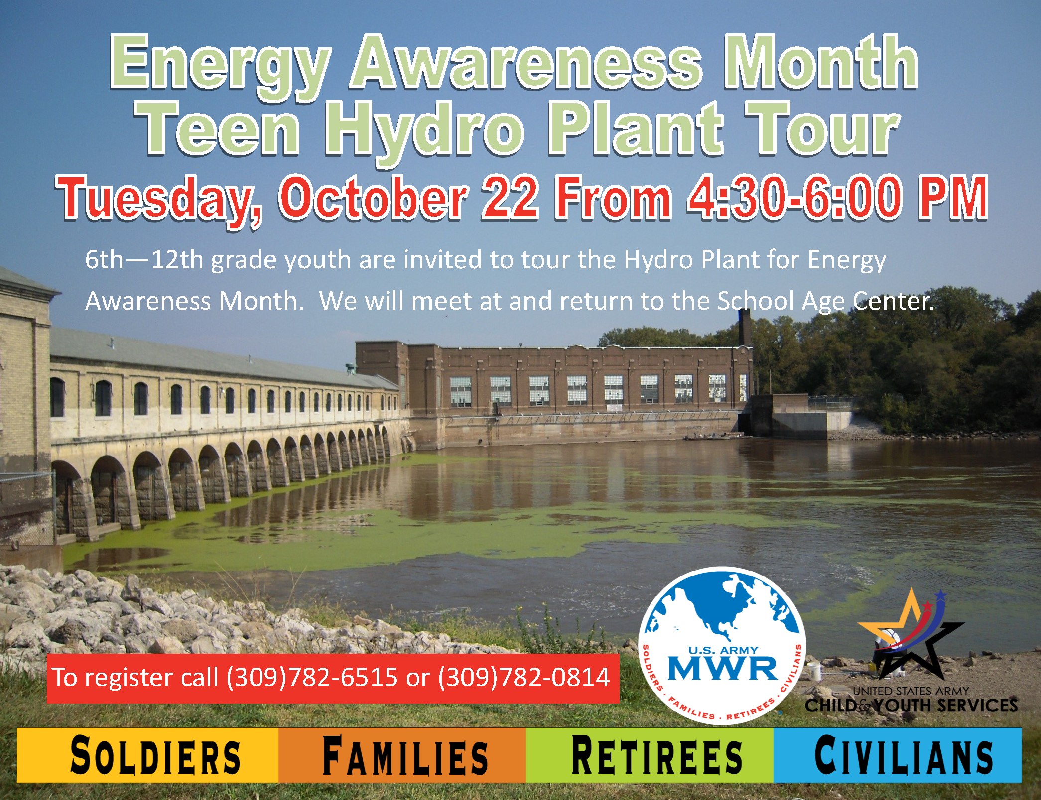 Energy Awareness Month Teen Hydro Plant Tour