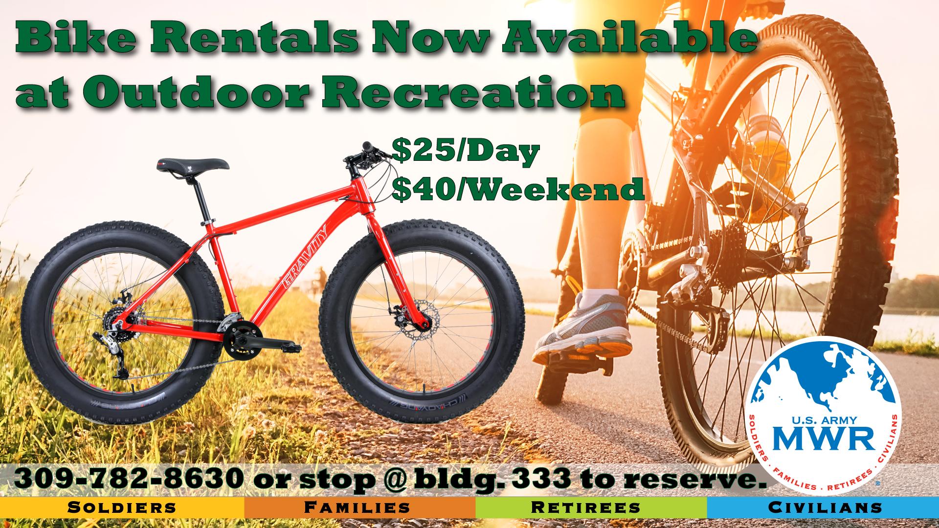 Bike Rentals at ODR!
