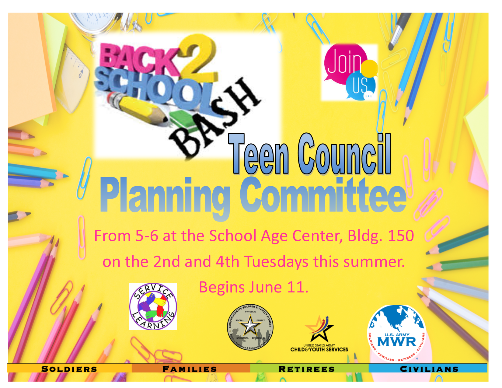 Back to School Bash Teen Council Planning Committee