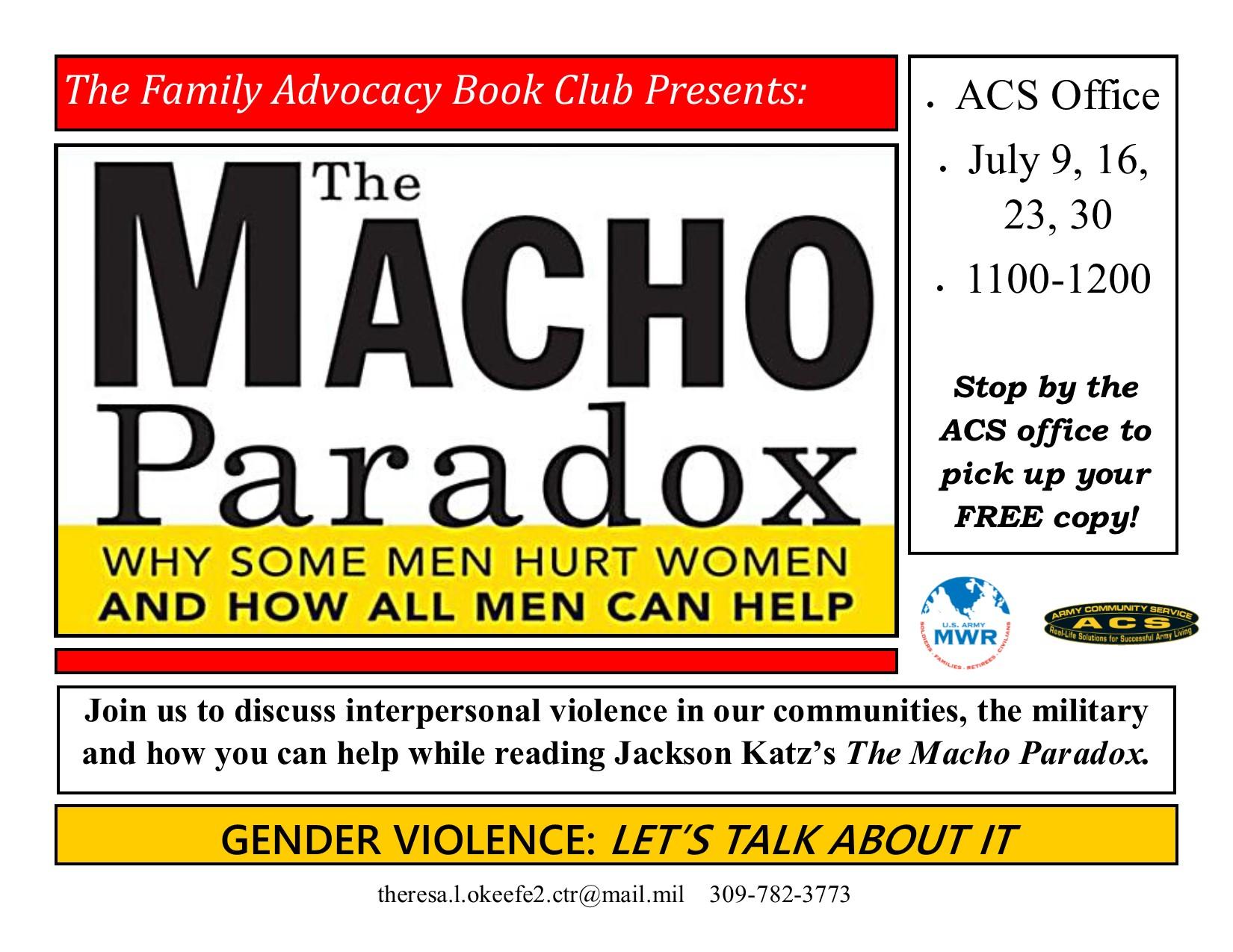 Family Advocacy Book Club: The Macho Paradox